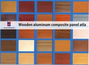 wooden aluminum composite panel atla