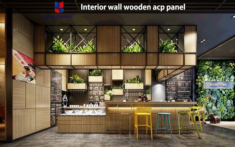 Interior wall wooden acp panel