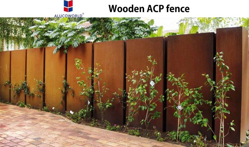 Wooden ACP fence
