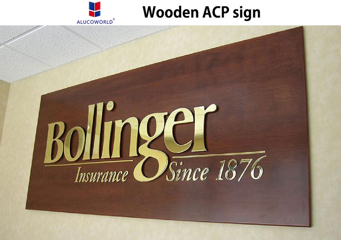 wooden acp panel sign