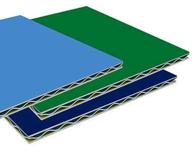 Aluminum corrugated core composite plate