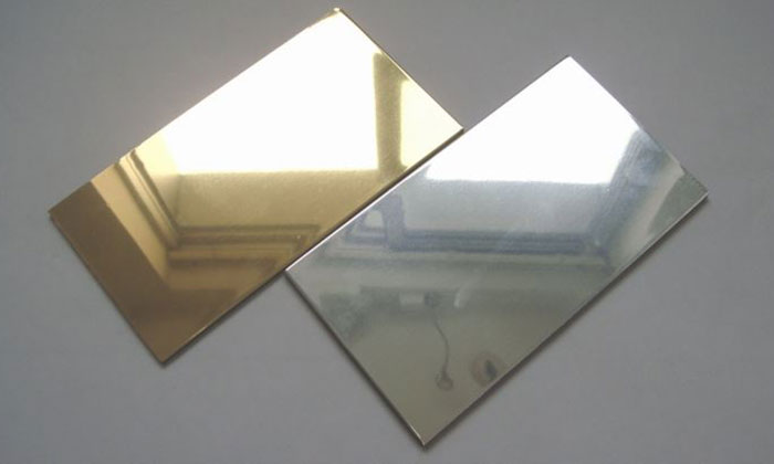 gold mirror finish and silver mirror finish