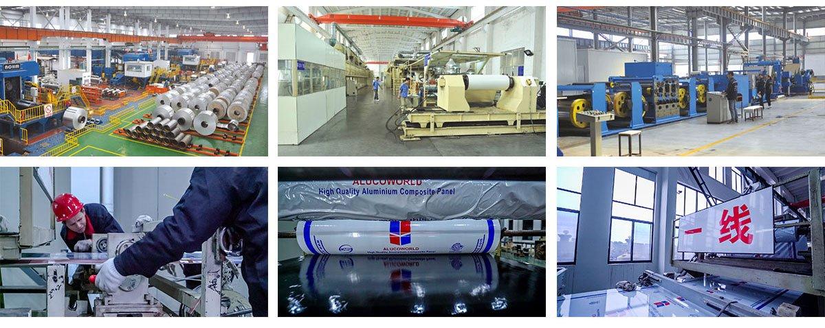 Aluminum composite panels production chain