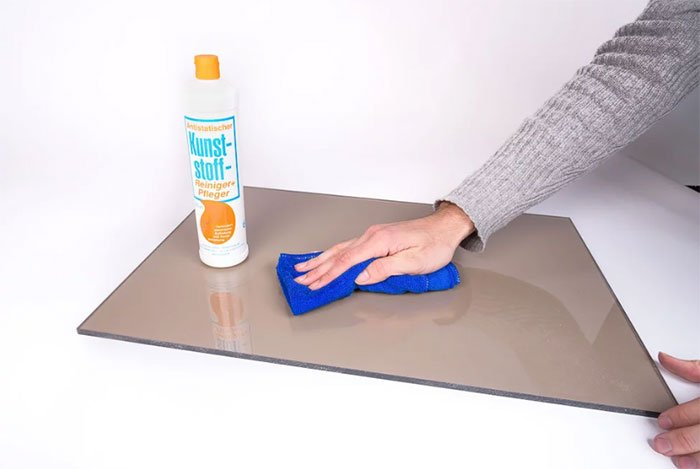 how to clean acm metal panel