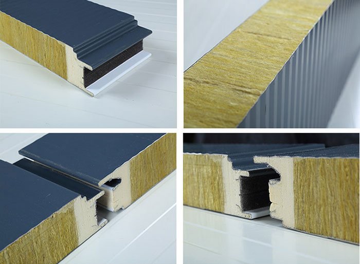 Rock wool composite panels