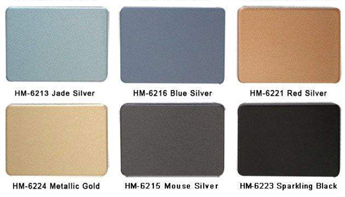 Electrolytic coloring of aluminum composite panels