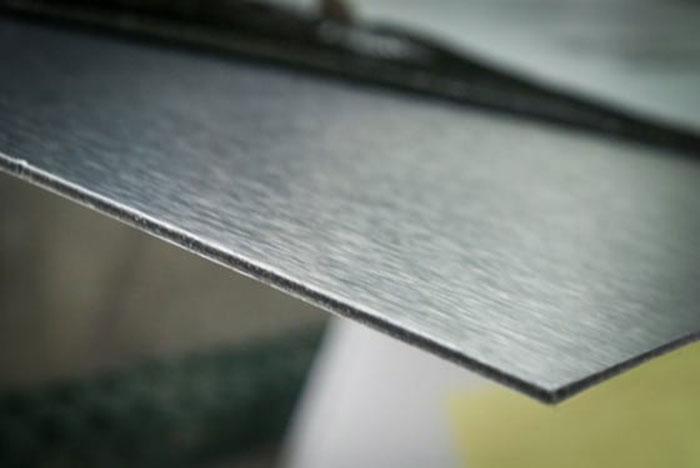 brushed aluminum signs
