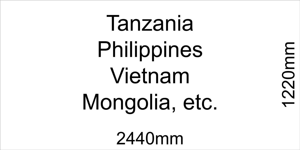 Alucobond Panel Standard Size 1220x2440
